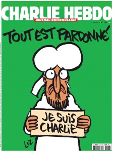 The cover of satirical weekly of Charlie Hebdo is seen in this handout image